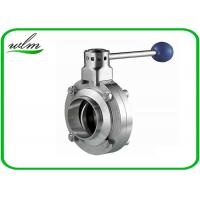 Buy cheap Butt Welded Sanitary Butterfly Valve For High Temperature Pipe System from Wholesalers