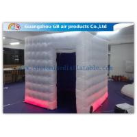 China Colored Customized Inflatable Led Photo Booth Enclosure Rental With Internal Blower factory