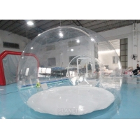 China 0.8mm Transparent PVC + Steel Frame Custom Size Inflatable Clear Bubble Dome Tent factory