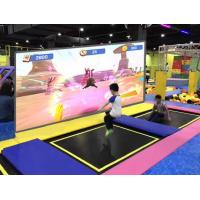 China Projection Type Interactive Wall Display , Trampoline Park Use Interactive Racing Games factory