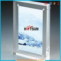 China High quality clear square double sided acrylic photo frame with magnets factory