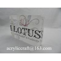 Custom made cheap desktop acrylic sign block laser cut acrylic plexiglass logo block