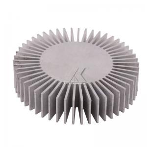 China sunflower shape aluminum profile anodized clear finished aluminum heat sink 6063-T5 radiator for LED factory