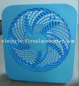 China Blue Desktop ABS 2 Speed Square Electric Fan 110V / 220V 50Hz / 60Hz on sale