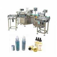 China Ball Shaped Vial Liquid Filling Machine With 2 Nozzles Filler 15-40 bottles/min factory