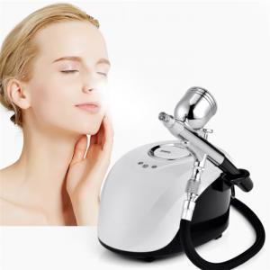 China Skin Care Portable Spa Mini Spray Gun Air Paint Face Steamer Nano Sprayer Nebulizer Compressor Water Oxygen Meter Facial on sale