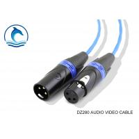 Buy cheap Male To Female 3 Pin XLR Microphone Cable 1 M / Audio Speaker Connectors Low Noise from Wholesalers