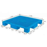 Buy cheap HDPE Export turnover  plastic pallet 1100*1100*140mm from Wholesalers
