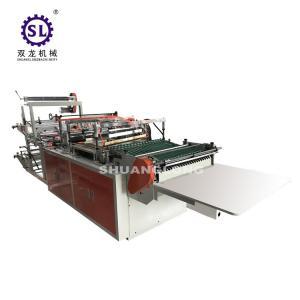 China Flower Sleeve Side Sealing Bag Making Machine BOPP Material 1400kg Weight factory