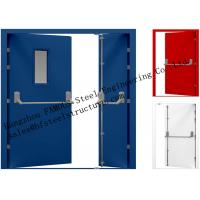 China Galvanized Industrial Hollow Steel Fire Doors For Residential Application factory