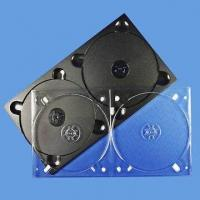 China Double Clear/Black Color CD and DVD Tray, Measures 4.1 x 137 x 248mm on sale