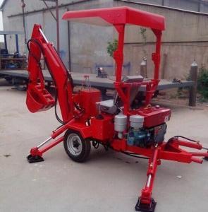 China 18HP diesel mini excavator towable digger backhoe export factory