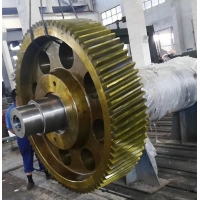 China Rotary Kiln / Cooler Casting 20 Mode 50TPD Mill Pinion Gears and girth gear and ball mill gear factory