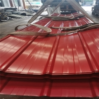 China 15 years wine red 0.476mm thickness of steel sheet for poultry farm factory