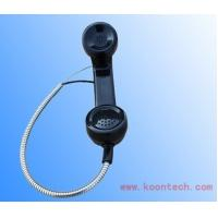 Buy cheap SUS Cable Telephone Handsets PC / ABS Black Insulation Anti-strike from Wholesalers