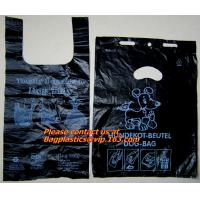 China Top quality discount pet cat packaging gusset t shirt bag, poop dog bags, cat bags, waste factory