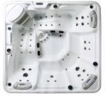 Buy cheap 5 Person Capacity Hot Massage Tub , Hot Tub Spa Corner Drain Location PFDJJ 08 from Wholesalers