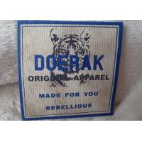 China High Density 3D Organic Canvas Screen Printing Label For Children'S Garments on sale