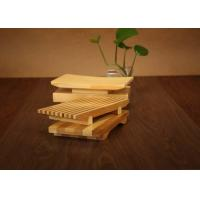 China Bamboo Sushi Serving Tray Plate , Eco Friendly Bamboo Sushi Decoration Table on sale