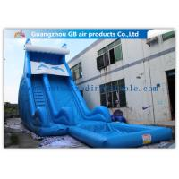 China Blue Dolphin Inflatable Rental Water Slides Bounce House For Big Kids / Teenagers factory