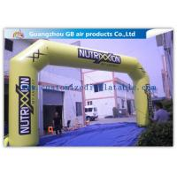 Buy cheap Outdoor Advertising Custom Inflatable Arch 0.45mm Pvc Tarpaulin , 8mL * 5mH from Wholesalers