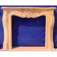 Buy cheap China elegant stone natural red stone fireplace surround from Wholesalers