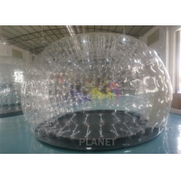 China PVC Airtight Igloo Transparent Inflatable Dome Tent With Led Light factory