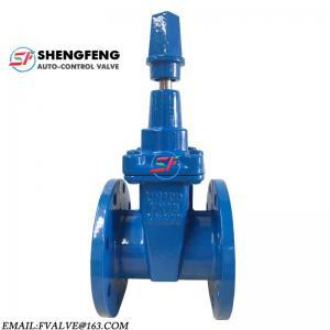 China DIN F4 PN16 NBR GGG50 cast iron sluice gate valve on sale