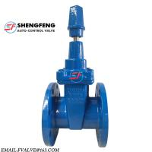 China DIN F4 PN16 PN10 NBR DN100 PN16 GGG50 cast iron sluice gate valve on sale