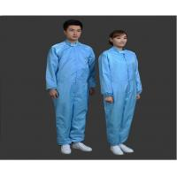 Buy cheap Safety Clean Room Garments Stand Collar ESD Coverall For Printing Industry from Wholesalers