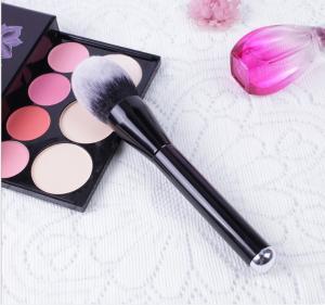 Wood Handle Cosmetics Blush Brush Synthetic Hair Handle Material