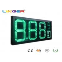 China Green Color Outdoor Led Signs Prices With 12 Inch Digits For Double Sides factory