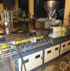 China PP PE mastbatch twin screw extruder machine/granulation machine/ pelletizing line factory