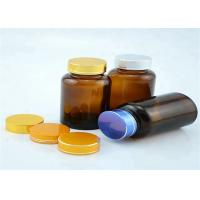 China Wide Mouth 120cc Amber Pill Bottles Seal Metal Lid For Long Distance Travel factory