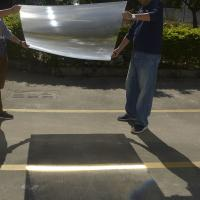 Buy cheap 1100*1100mm PMMA material linear fresnel lens, large fresnel lens ,big fresnel lens for sale from Wholesalers