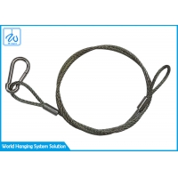 China Galvanized Stainless Steel 3mm Wire Rope Sling Safety Cable For Light Fixtures factory