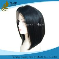 China Short Human Hair Wigs 100% Real Virgin Hair , Natural Looking Wigs For Black Women on sale