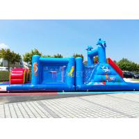 China 14 M Long Inflatable Tunnel Outdoor Obstacle Course Equipment Electric Blower factory