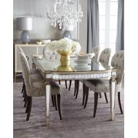 Buy cheap Luxury Mirrored Dining Table With Grey Wooden Chair  8 Person Seats from Wholesalers