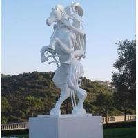 China White painting Abstract bronze sculptures, bronze horse with figure statues , China sculpture supplier factory