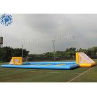 China Custom Inflatable Sports Games /  Outdoor Inflatable Soccer Field Football Pitch factory