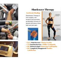China Physiotherapy Equipments ESWT Shockwave Therapy Machine 22Hz Frequency Knee Pain Relief on sale