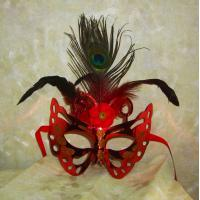 Buy cheap Halloween witch party mask party mask panda paper mask eye mask PVC woman party from wholesalers