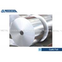 Buy cheap Thermal Stability CuNi44 Copper Nickel Alloy Foils FOR marine equipment from Wholesalers