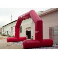 China High Strength Red Custom Inflatable Arch CE / UL Air Blower Easy Operation factory