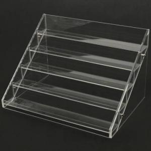 China 13 Years Factory Clear Acrylic Nail Polish Table Display Rack / Acrylic Nail Polish stand factory