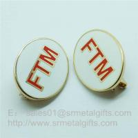 China Cloisonne Emblem Lapel Pins, soft enamel monogram letter badge pins with safety pin on sale