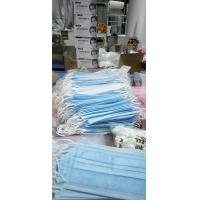 China Non-woven disposable masks limited release Three layers Safe and quick 50 one box blue factory