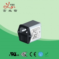China Yanbixin AC Socket IEC Inline EMI Filter With Switch Holder 10A 120V 250VAC factory