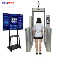 China Metal Detector System Walk Through Temperature Scanner With Face Recognition Camera factory